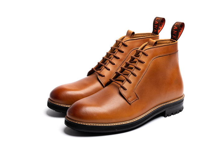 HADLEIGH // TAN-MEN'S SHOE | LANX Proper Men's Shoes
