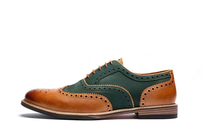 SHIREBURN // EMERALD & TAN-MEN'S SHOE | LANX Proper Men's Shoes