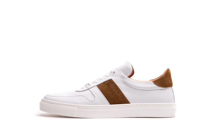 SANKEY // WHITE & MARACCA-MEN'S SNEAKER | LANX Proper Men's Shoes