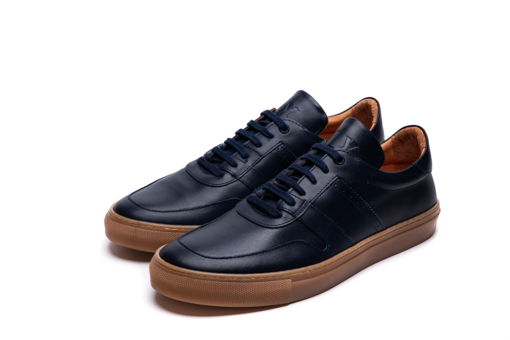 SANKEY // NAVY-MEN'S SNEAKER | LANX Proper Men's Shoes