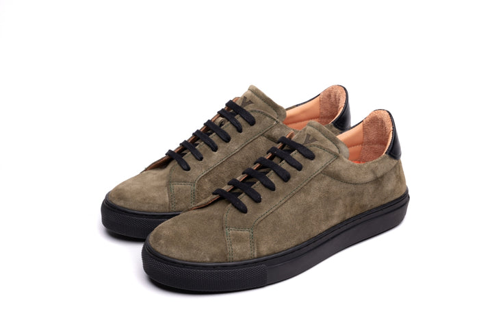 NESS / KHAKI & BLACK-Womens Sneakers | LANX Proper Men's Shoes