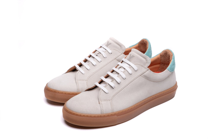 NESS / WHITE & AQUA-Womens Sneakers | LANX Proper Men's Shoes