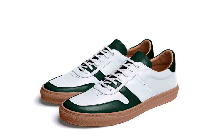 SANKEY // WHITE & SERPENTINE-MEN'S SNEAKER | LANX Proper Men's Shoes