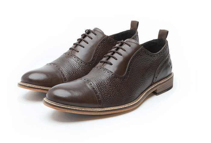 WALTON // BROWN (MEN'S)-MEN'S SHOE | LANX Proper Men's Shoes