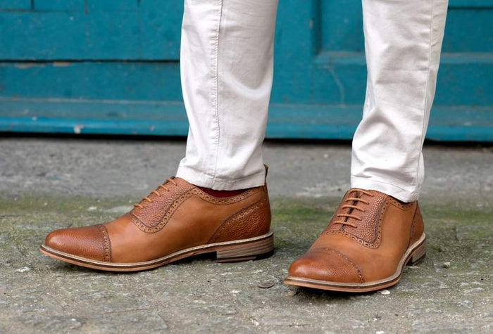WALTON // TAN-MEN'S SHOE | LANX Proper Men's Shoes
