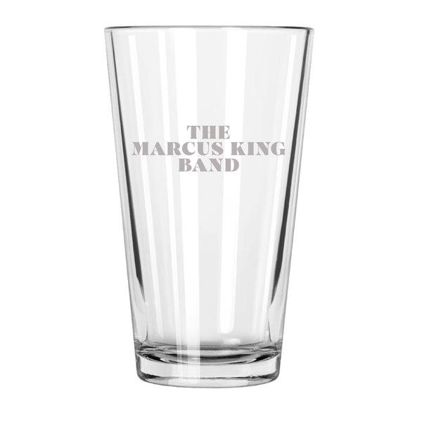 The Marcus King Band Etched Pint Glass