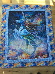 Josephine Wall, Unicorn Panel, from the celestial journey collection