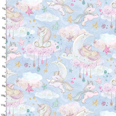 Unicorn Sparkle cotton fabric