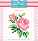 Pink Pixelated rose quilt
