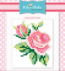 Pink Pixelated Rose quilt pattern