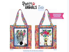 Party Animals Free Tote Bag by 3 Wishes Fabric