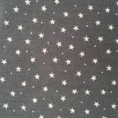 Rose and Hubble, Stars Grey Cotton  Fabric