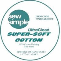 "5 METRE BUNDLE Sew Simple Super Soft Cotton Wadding 90"" wide"