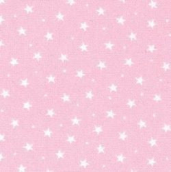 Rose and Hubble, Stars, Baby Pink, CottonFabric