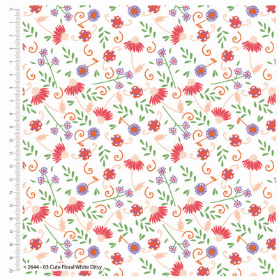 Cute Floral White Ditsy