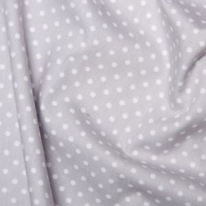 Rose and Hubble, Polka Dot Silver Grey Fabric