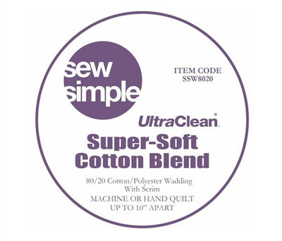 5 METRE BUNDLE Sew Simple Super-Soft 80/20 Cotton Blend Wadding