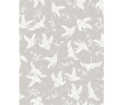 Cranes on Light Grey Narumi