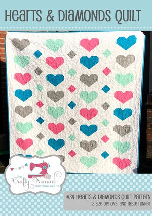 Hearts and Diamonds Quilt Kit 60x68""