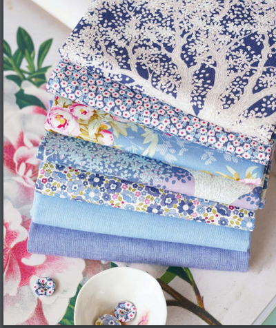 Blue Woodland fabrics in a fat quarter bundle