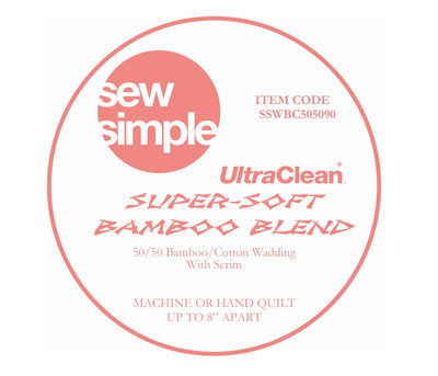 5 METRE BUNDLE Sew Simple Super-Soft 50/50 Bamboo Blend Wadding