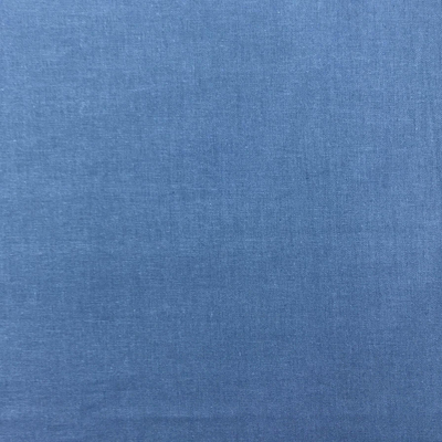 Denim Blue Homespun  Plain Cotton Fabric