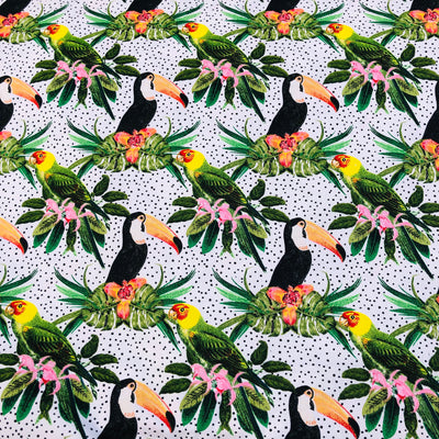 Jungle Toucans cotton print