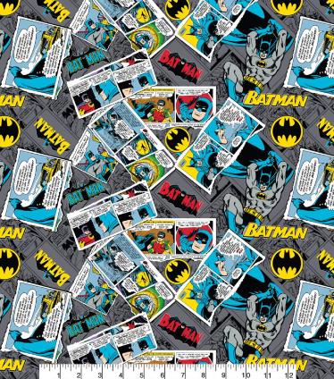 Batman Heroes Cotton Fabric