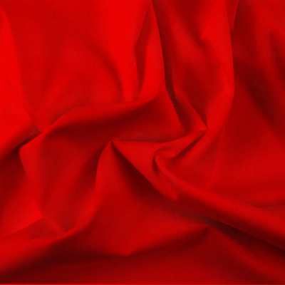Red Polycotton