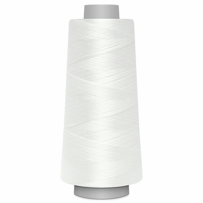 White Toldi Lock Overlocking Thread