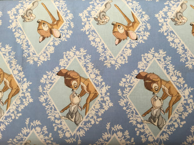 Bambi and Thumper in Diamonds on Pale Blue