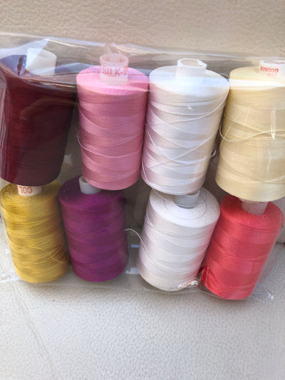 Pink Embroidery Thread Pack