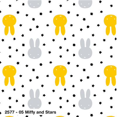 Miffy and Stars cotton fabric