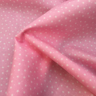 Rose and Hubble, Stars, Baby Pink, Cotton Fabric