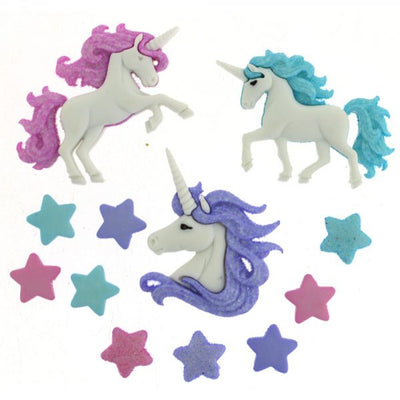 Dress It Up Buttons  Magical Unicorns