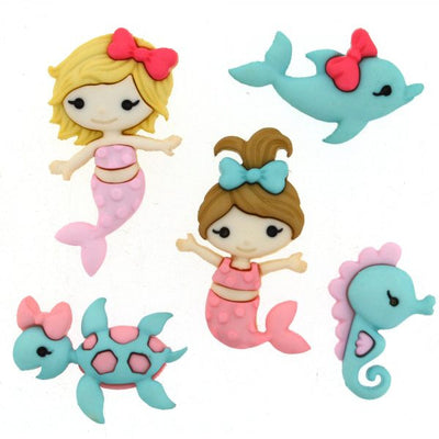 Dress It Up Buttons Mermaid Kisses