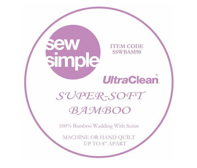 Sew Simple Super-Soft 100% Bamboo Wadding