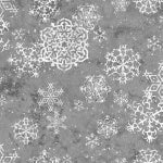 Sheltering Snowmen Snowflakes Fabric