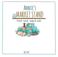 Annie's Market Stand - rustic soaps & suds