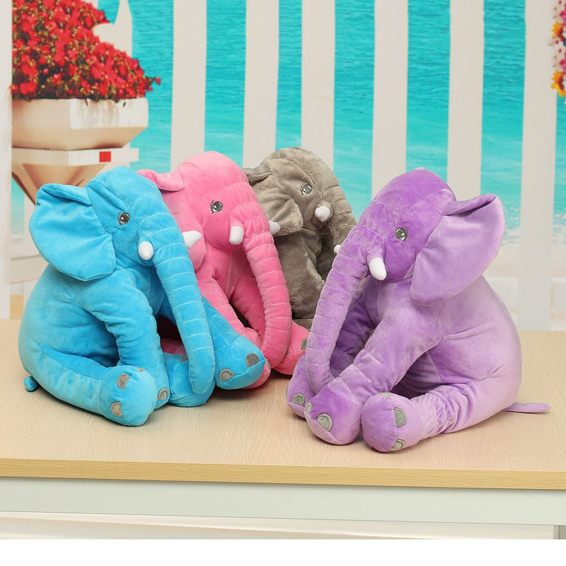 Plush Elephant Sleep Pillow 40x33cm 4 Colors