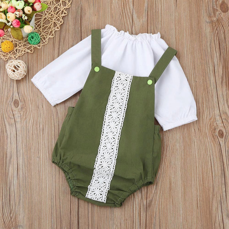 Girls  Lace Romper   Suit  Cant Be Cuter
