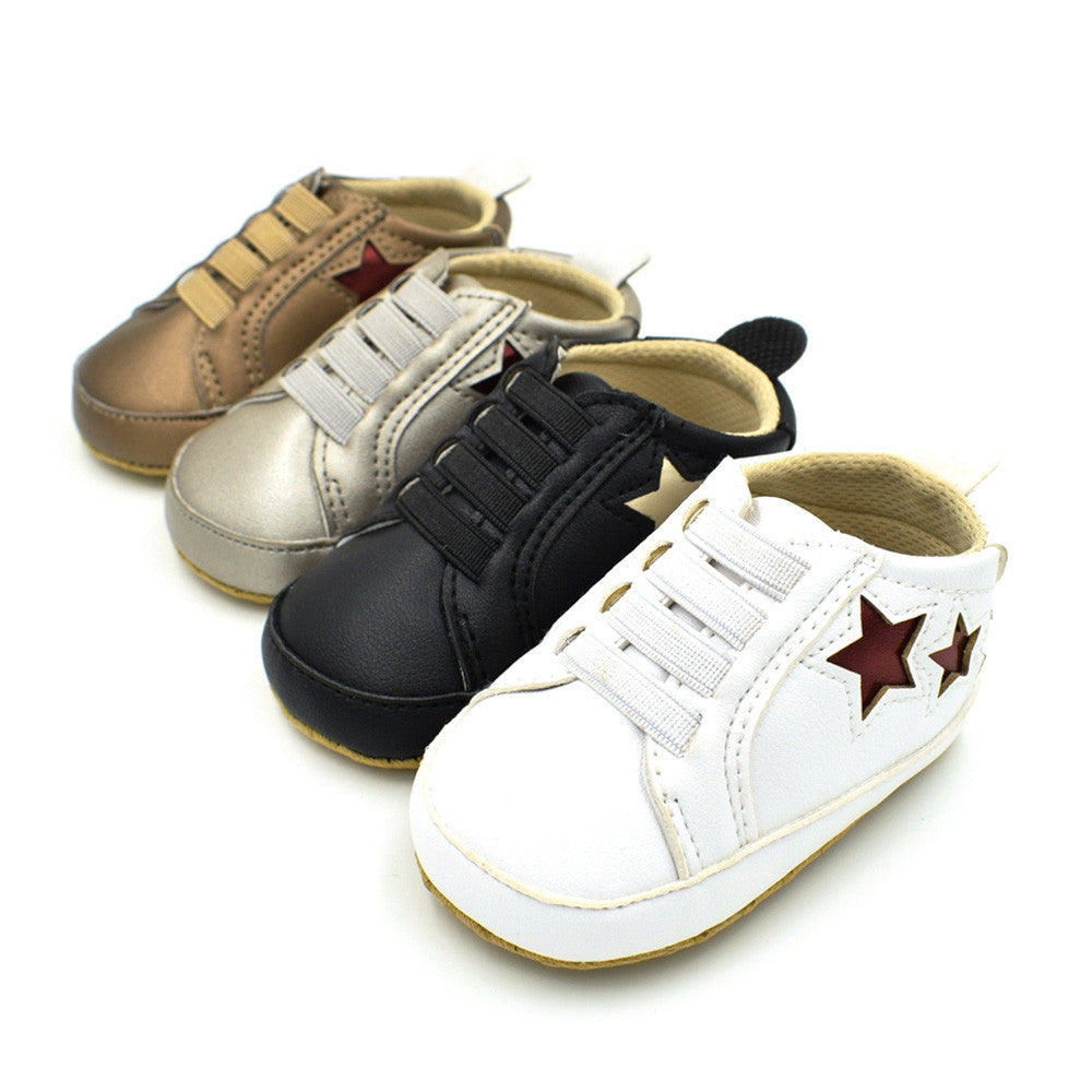 Girls Boys Shoe Star Soft Anti-slip Shoes