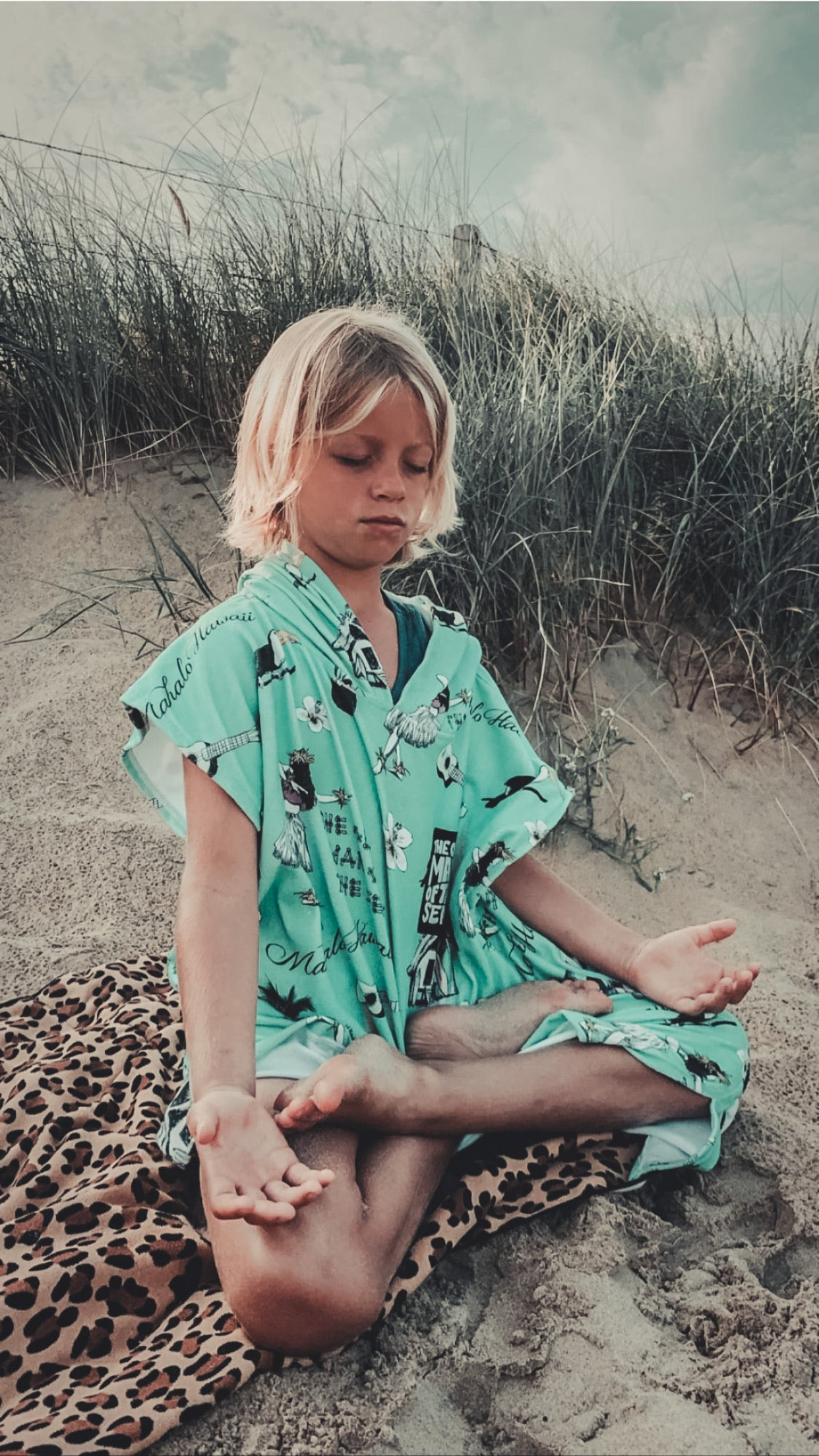 KIDS PONCHO HAWAII