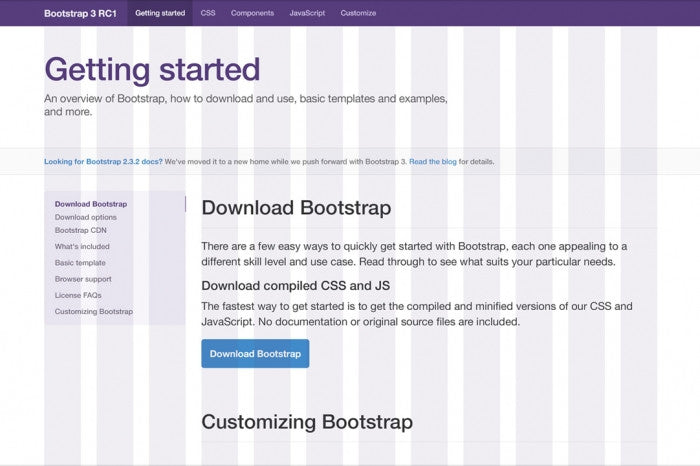 Bootstrap 3 PSD template