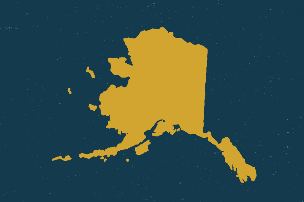 Alaska State Map by Hand
