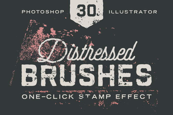 Distressed Texture Brushes for Photoshop & Illsutrator