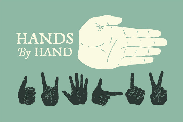 Hand illustrations illustrated by hand
