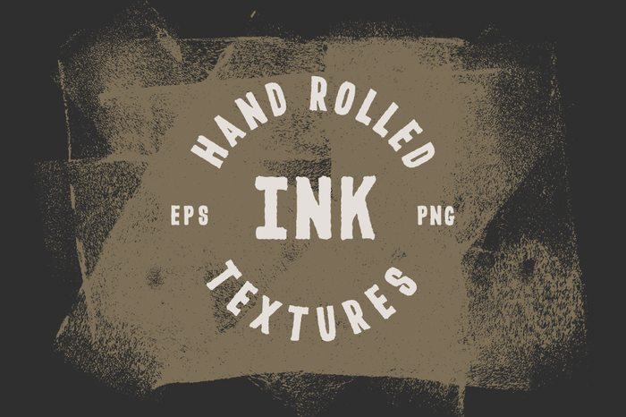 Vector Rolled Ink Textures
