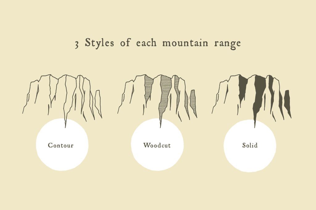 EPS vector mountains