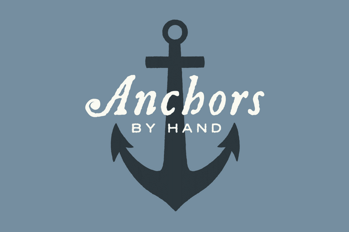 Hand Illustrated Anchors and Rope